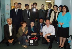 Japanese Delegation with Legal Aid Staffers        Gregg Kelley and Jodi Feldman