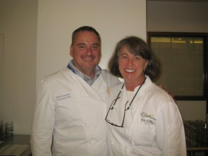 Susan Holt with Chef Mikko