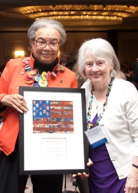 Servant of Justice Honoree Marian Wright Edelman, left, and the Honorable Patricia M. Wald