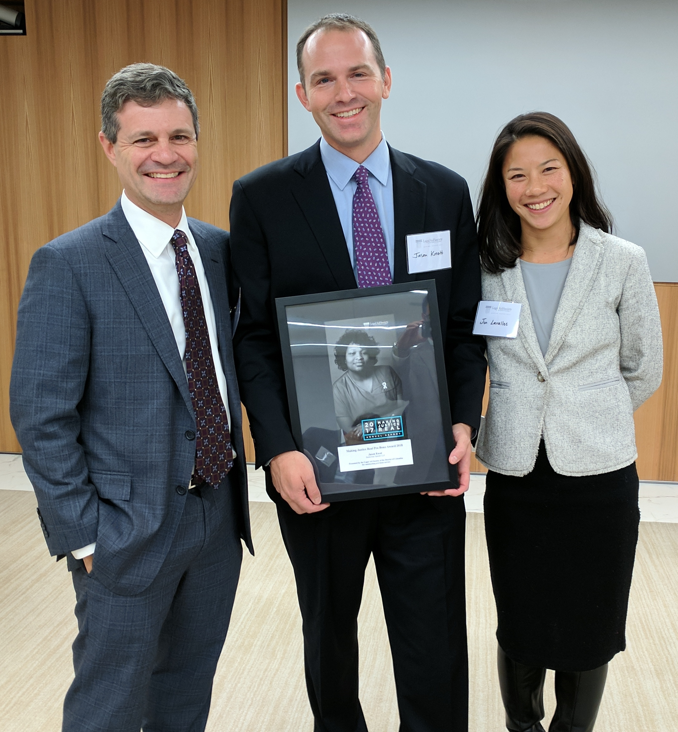 Legal Aid Honors Jason Knott Of Zuckerman Spaeder Making Justice