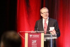 """""""Every dollar donated to Legal Aid is leveraged many times over."""" - 2017 Dinner Co-Chair Peter Thomas of Simpson Thacher & Bartlett LLP"""