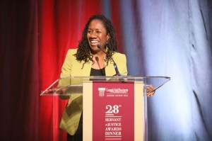 Sherrilyn Ifill of the NAACP Legal Defense and Educational Fund, Inc. introduces 2017 Servant of Justice Honoree Vanita Gupta