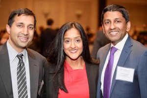 Left to right: Pratik Shah of Akin Gump with 2017 Servant of Justice Honoree Vanita Gupta, and the Honorable Sri Srinivasan of the U.S. Court of Appeals for the District of Columbia Circuit