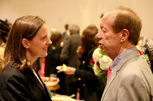 Legal Aid Supervising Attorney Beth Harrison with current Trustee Jerry Hartman