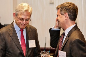 The Honorable Merrick Garland with Legal Aid Executive Director Eric Angel