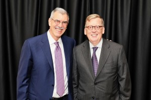 2017 Servant of Justice Honoree Donald B. Verrilli, Jr. with presenter and former Servant of Justice Award Honoree Paul M. Smith